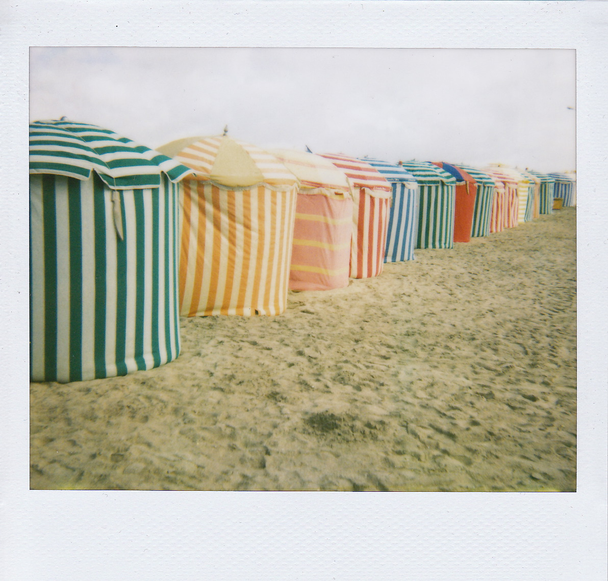image ... & Striped Beach Tents of Trouville : Honey Kennedy
