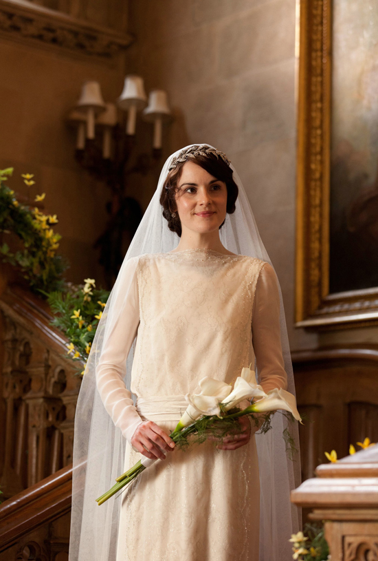 Lady Mary wedding dress via Honey Kennedy