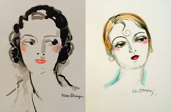 honey-kennedy-kees-van-dongen-makeup-drawings