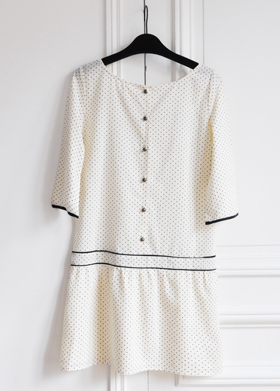 honey-kennedy-sezane-polka-dot-dress