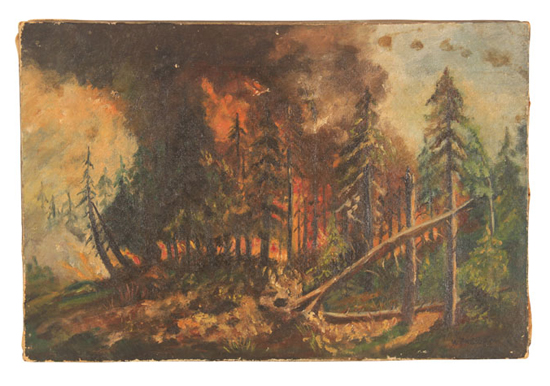 honey-kennedy-vintage-forest-fire-painting