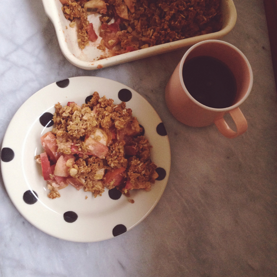 Recipe: Maple Sage Cardamom Apple Crisp by Honey Kennedy
