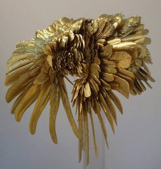 honey-kennedy-casey-curran-gold-feathers-sculpture