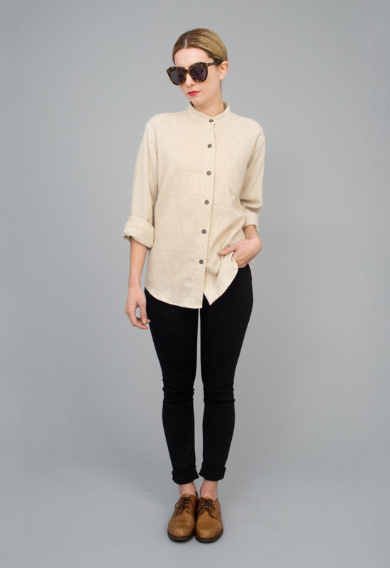 honey-kennedy-tenoversix-jesse-kamm-classic-button-up-tan-01