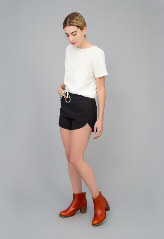 honey-kennedy-tenoversix-samantha-pleet-leaf-shorts-black