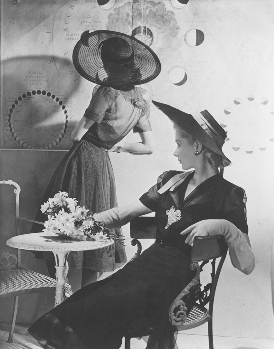 honey-kennedy-horst-p-horst-fonssagrives-lane-summer-hats-1940