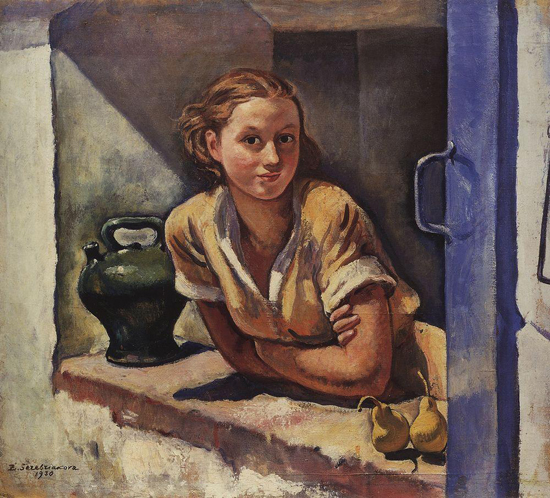 honey-kennedy-Zinaida-Serebriakova-collioure-katia-on-the-terrace-1930