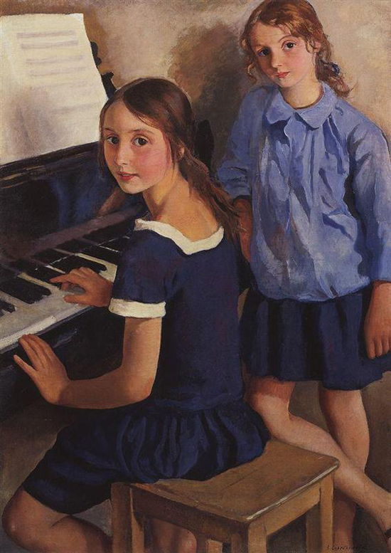 honey-kennedy-Zinaida-Serebriakova-daughters