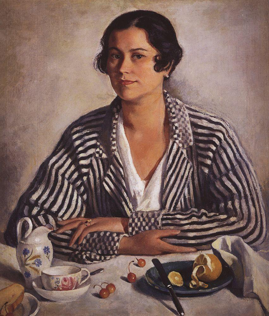 honey-kennedy-Zinaida-Serebriakova-portrait-of-troinitsky-1924