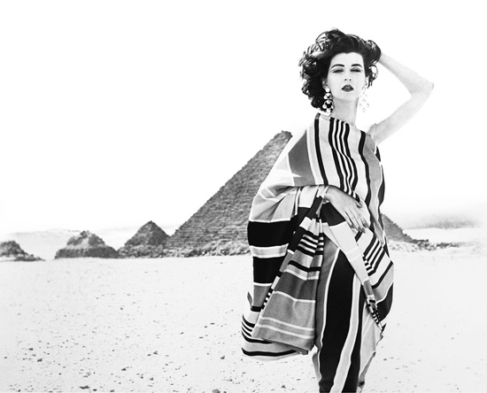 Dovima, wrap by Brooke Cadwallader, Great Pyramids of Giza, Egyp