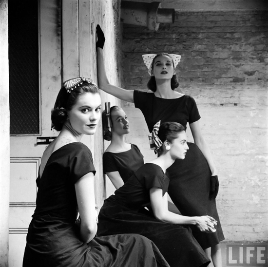 honey-kennedy-ribbon-hats-photo-by-yale-joel-1950s