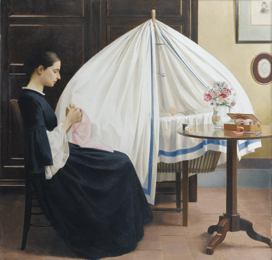honey-kennedy-bernard-boutet-de-monvel-paintings-1922-delfina-with-baby-sylvie-in-her-cradle-08