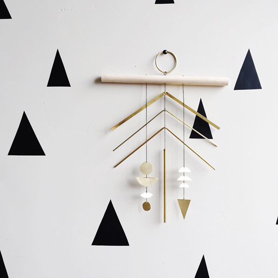 Simple honey kennedy electric sun creatives mobiles brass wall