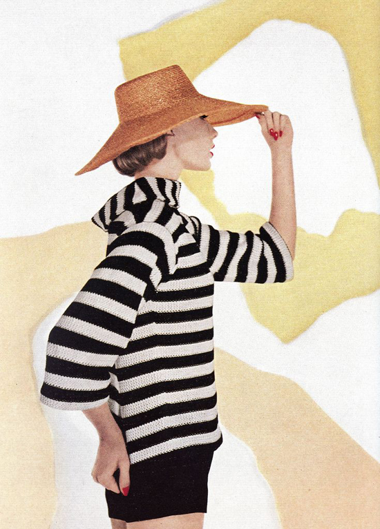honey-kennedy-louise-dahl-wolfe-hat-and-stripes